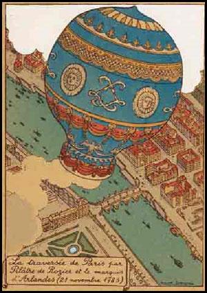1783 - Première ascension aérostatique dans le parc du château de la Muette