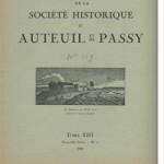 Bulletin n° 119 de la Société d'Histoire d'Auteuil et de Passy