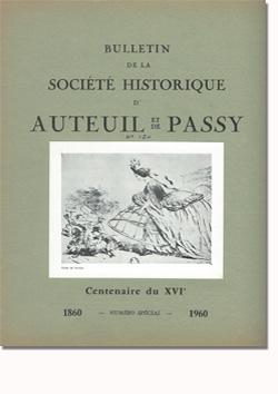 Bulletin n° 120  de la Société d'Histoire d'Auteuil et de Passy
