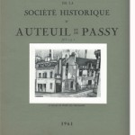 Bulletin n° 121 de la Société d'Histoire d'Auteuil et de Passy