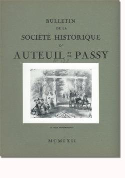 Bulletin n° 122 de la Société d'Histoire d'Auteuil et de Passy