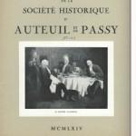 Bulletin n° 123 de la Société d'Histoire d'Auteuil et de Passy