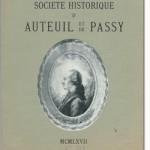 Bulletin n° 125 de la Société d'Histoire d'Auteuil et de Passy