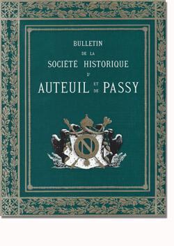 Bulletin n° 128 de la Société d'Histoire d'Auteuil et de Passy