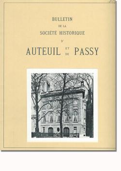 Bulletin n° 129 de la Société d'Histoire d'Auteuil et de Passy
