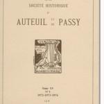Bulletin n° 130 de la Société d'Histoire d'Auteuil et de Passy