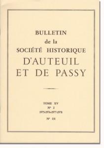 Bulletin n° 131 de la Société d'Histoire d'Auteuil et de Passy