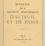 Bulletin n° 132 de la Société d'Histoire d'Auteuil et de Passy