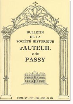 Bulletin n° 134 de la Société d'Histoire d'Auteuil et de Passy