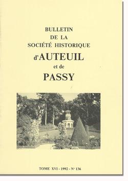 Bulletin n° 136 de la Société d'Histoire d'Auteuil et de Passy