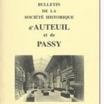 Bulletin n° 137 de la Société d'Histoire d'Auteuil et de Passy