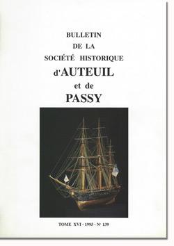 Bulletin n° 139 de la Société d'Histoire d'Auteuil et de Passy