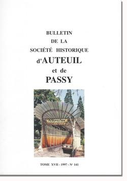Bulletin n° 141 de la Société d'Histoire d'Auteuil et de Passy