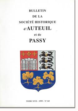 Bulletin n° 143 de la Société d'Histoire d'Auteuil et de Passy