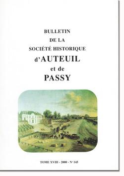 Bulletin n° 145 de la Société Historique d'Auteuil et de Passy
