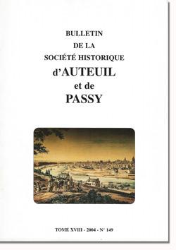 Bulletin n° 148 de la Société Historique d'Auteuil et de Passy