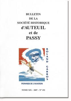 Bulletin n° 152 de la Société Historique d'Auteuil et de Passy