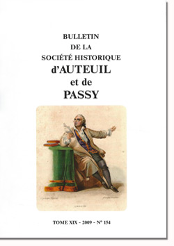 Bulletin n°154 de la Société Historique d'Auteuil et de Passy