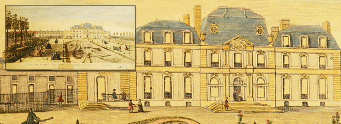 Vue du château de la Meutte (Muette) et d