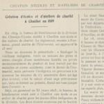 Création d'écoles et d'ateliers de charité à Chaillot en 1809