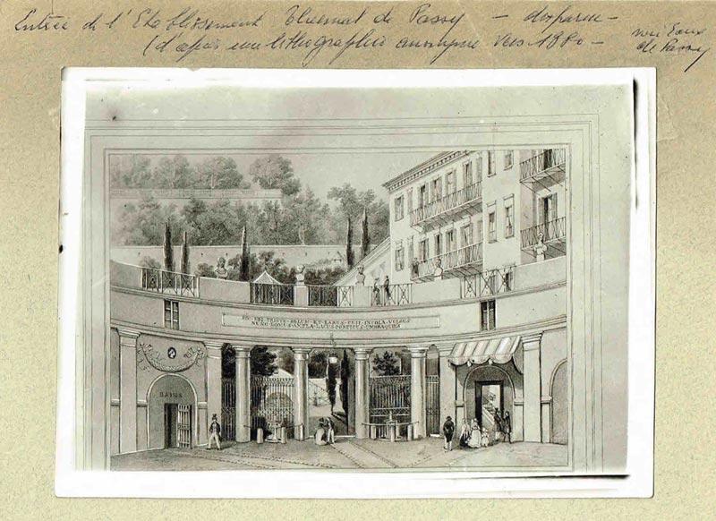 Établissement des Eaux thermales de Passy (vers 1880)