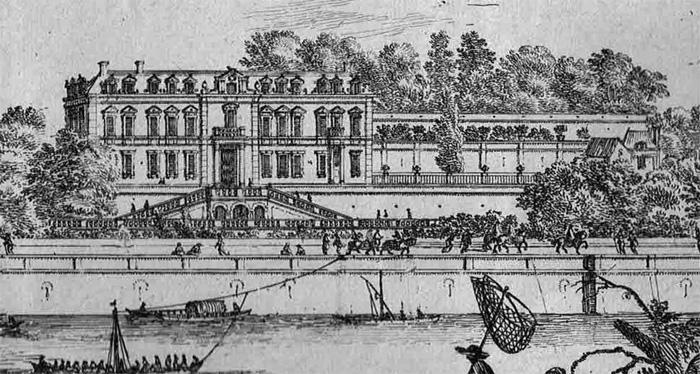 Halage près du Château de Chaillot (détail)