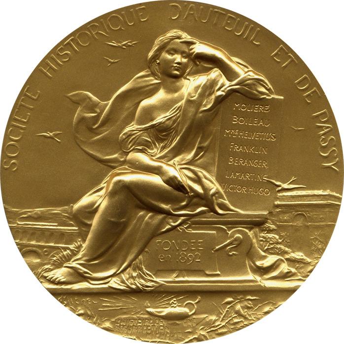 Médaille de la Société Historique d'Auteuil et de Passy