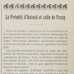 La Prévôté d'Auteuil et celle de Passy