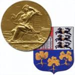 La médaille et les armoiries - Symboles de la Société Historique d'Auteuil et de Passy