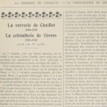 La verrerie de Chaillot, 1706-1720