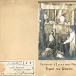 Souterrain à deux voies sous Passy. Travail des glaisiers (vers 1898).