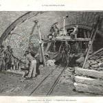 Le souterrain de Passy : injection du ciment (février 1898).