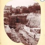 Travaux de la station de Boulainvilliers (fin 19e siècle).