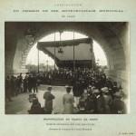Construction du chemin de fer métropolitain municipal de Paris. Inauguration du viaduc de Passy le 15 juillet 1906.