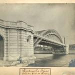 Pont sur la Seine (culée du quai de Passy). 1901.