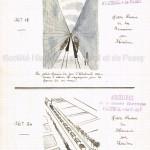 """""""Petit Journal pour rire"""". Dessins humoristiques sur le petit chemin de fer d'Auteuil, par Nadar."""