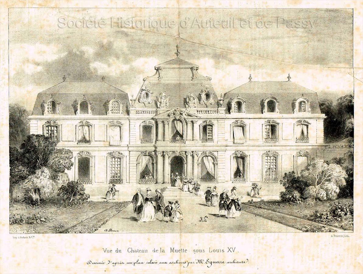 Vue du château de la Muette sous Louis XV.