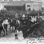Leurs majestés le Roi et la Reine d'Italie à Paris, gare du Bois de Boulogne (1903)