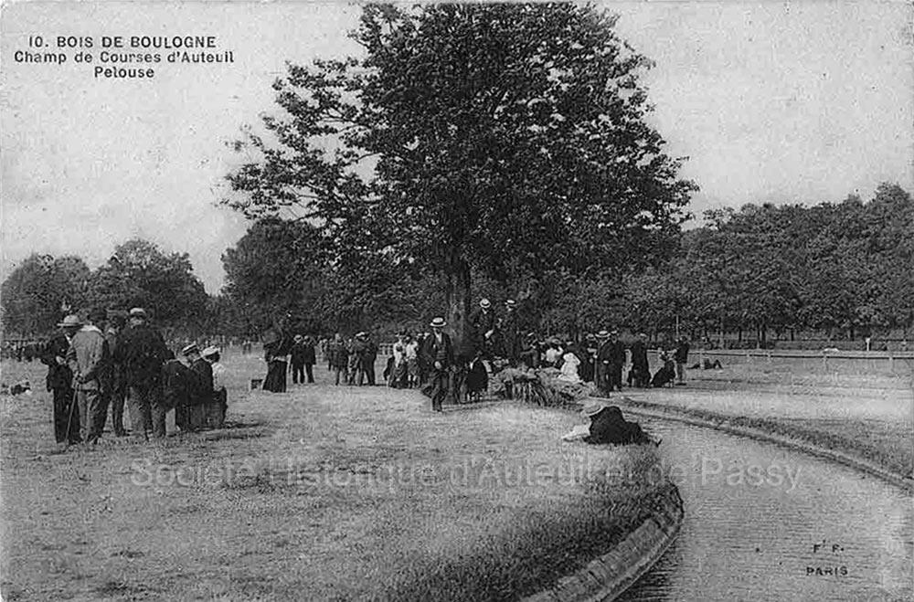 Bois de Boulogne. Champ de courses d'Auteuil
