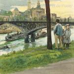 Le Trocadéro et le pont de Passy (1886).