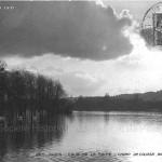 Champ de course du Bois de Boulogne durant la grande crue de janvier 1910.