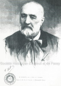 Ingénieur, né à Grenoble en 1817, Adolphe ALPHAND est mort à Paris en 1891. Il habitait au 3, boulevard Beauséjour.