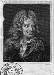 Nicolas BOILEAU, dit BOILEAU-DESPRÉAUX, poète, né à Paris en 1636, mort à Paris en 1711. Sa maison s'élevait à ce qui correspond aujourd'hui au 26, rue Boileau.