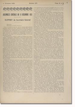 Bulletin n°104 de la Société d'Histoire d'Auteuil et de Passy