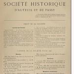 Bulletin n° 12 de la Société d'Histoire d'Auteuil et de Passy