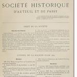 Bulletin n° 15 de la Société d'Histoire d'Auteuil et de Passy