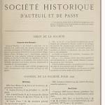 Bulletin n° 16 de la Société d'Histoire d'Auteuil et de Passy