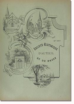 Bulletin n° 24 de la Société d'Histoire d'Auteuil et de Passy