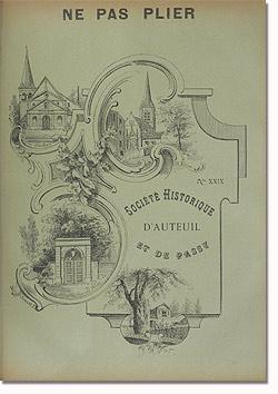 Bulletin n° 29 de la Société d'Histoire d'Auteuil et de Passy