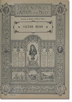 Bulletin n° 38-39 de la Société d'Histoire d'Auteuil et de Passy